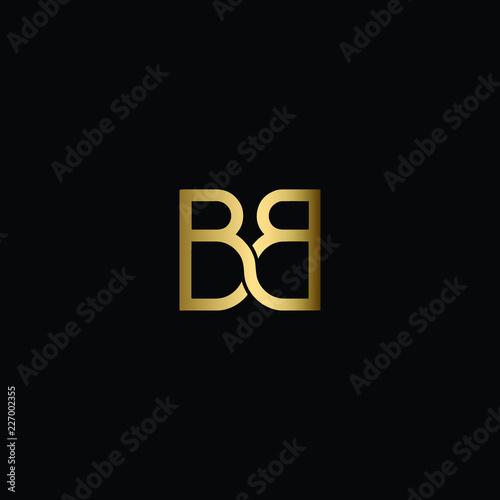 Minimal Solid Letter BB Logo Design Using Letter B In Vector Format Canvas Print