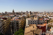 Valencia landscape view with roofs of buildings
