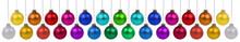 Weihnachten Weihnachtskugeln Farben Kugeln Banner Dekoration Hängen Freisteller