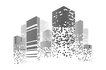 Building and city illustrat...