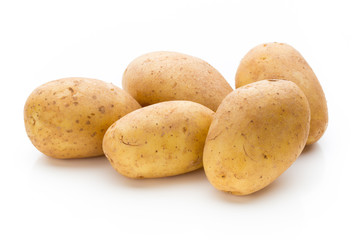 Fototapeta New potato isolated on the white background.