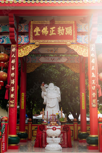 In de dag Historisch mon. Chinese god statue in Jiu Tean Geng Shrine, Phuket, Thailand.