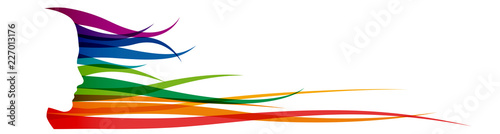 Vector Abstract woman with hair in the wind. Background for banner with copy ...