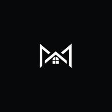 Minimal Solid Real Estate Letter M House Logo Design Using Letter M In Vector Format
