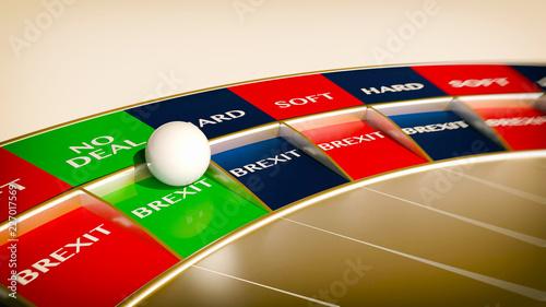 Fotografía  no deal brexit roulette  - concept gambling