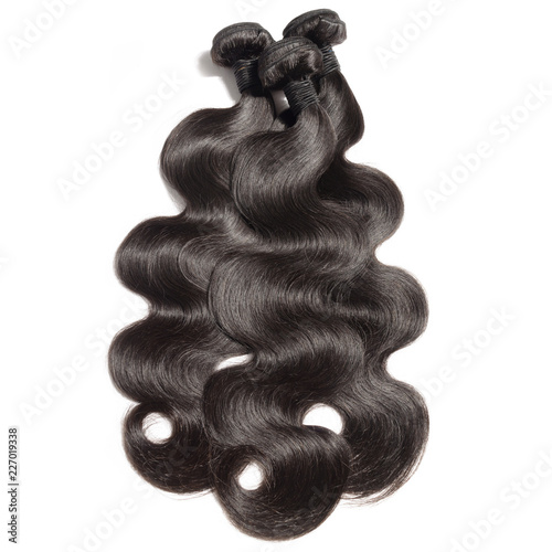 Foto Body wavy black human hair weaves extensions bundels