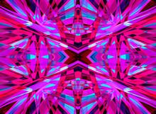 Purple And Pink Kaleidoscope Pattern