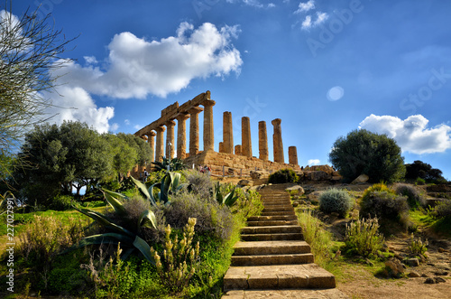 The Valley of the Temples is an archaeological site in Agrigento, Sicily, Italy Canvas Print