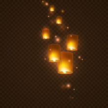 Lanterns Isolated On Transpare...
