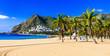 Best beaches of Tenerife - Las Teresitas near Santa Cruz. Canary islands