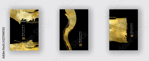 Obraz Vector Black and Gold Design Templates set - fototapety do salonu