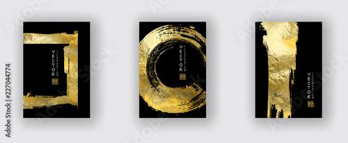 Fototapeta Vector Black and Gold Design Templates set obraz
