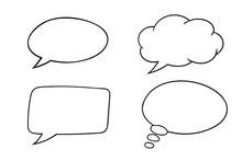 Speech Bubbles. Outline Icons Set