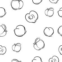 Vector Seamless Of Peach
