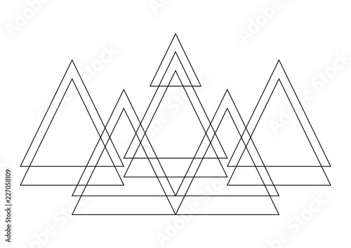 Foto auf AluDibond Boho-Stil Vector decor polygon combination in bohemian style. Boho style modern triangle design elements.