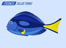 Fish Character. Cartoon Vector...