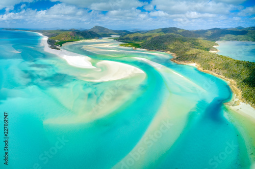 Hill Inlet at Whitehaven Beach on Whitesunday Island, Queensland, Australia Wallpaper Mural