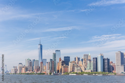Keuken foto achterwand New York City Panoramic view of Lower Manhattan, New York City, USA.