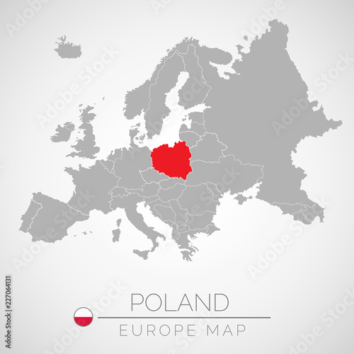 Map of European Union with the identication of Poland. Map of Poland ...