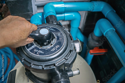 Fototapeta Swimming Pool Cleaning Equipment Service And
