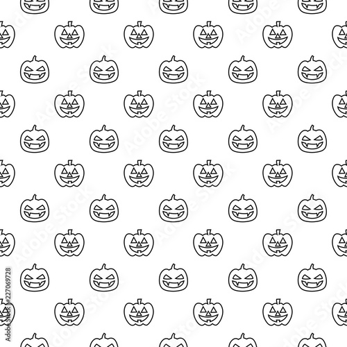 Pumpkin Vector Seamless Pattern Halloween Isolated Wallpaper Background Cartoon Black And White Buy This Stock Vector And Explore Similar Vectors At Adobe Stock Adobe Stock