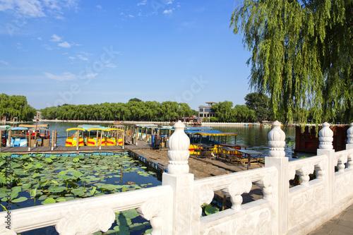 The famous Houhai lake in Beijing, China