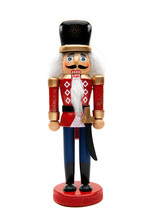 Christmas Nutcracker Soldier Isolated White Background