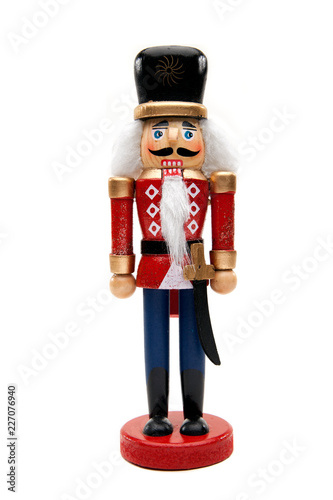 Fotomural Christmas Nutcracker Soldier Isolated White Background
