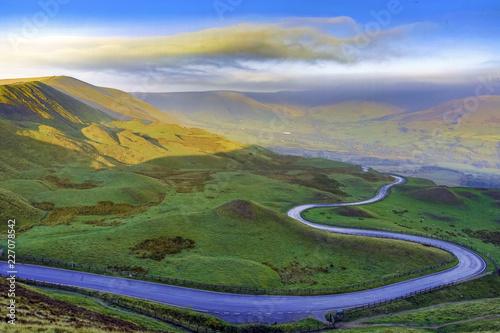 Printed kitchen splashbacks Beige Autumn mist in the Hope Valley, Derbyshire, UK