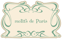 Motives Paris. Art Nouveau. Vector Isolate Element. Vintage Frame. Wedding Invitation, Birthday Cards.