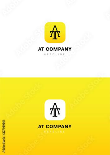 Photo  AT company logo template.