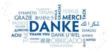 DANKE Mehrsprachig - Weiß Blau