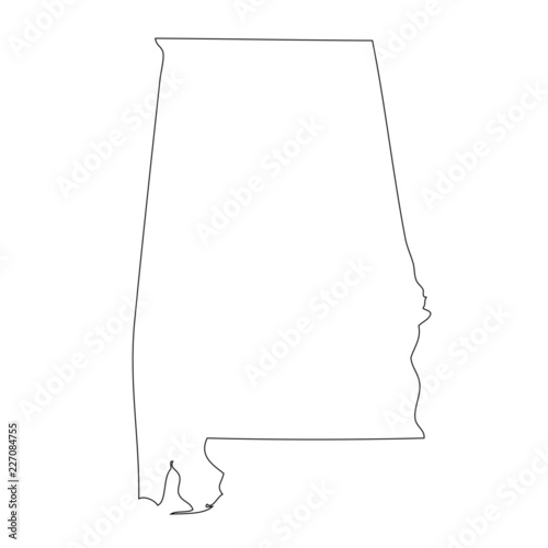 Alabama - map state of USA Canvas Print