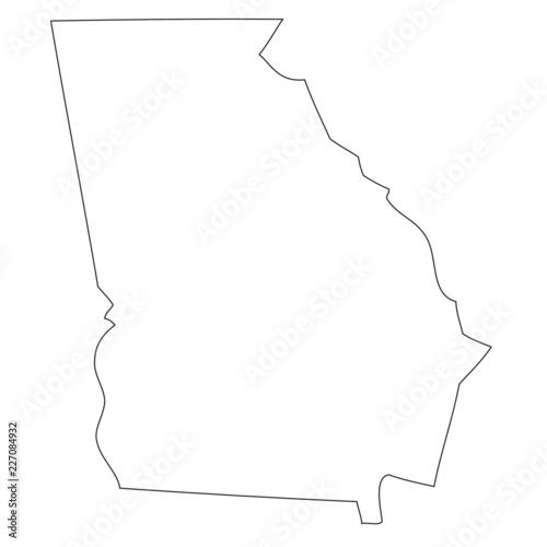 Georgia - map state of USA Wall mural