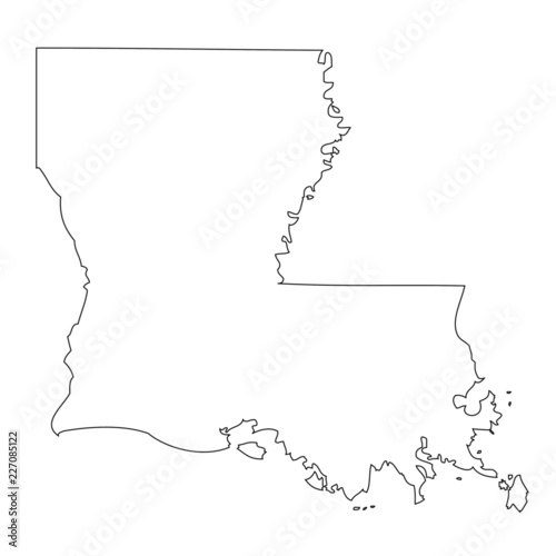 Louisiana - map state of USA Wallpaper Mural