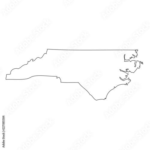 North Carolina - map state of USA Wall mural