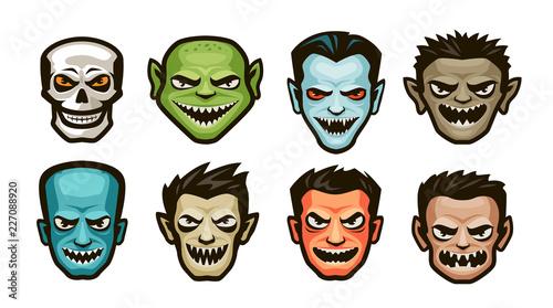 Funny monsters set Fototapet