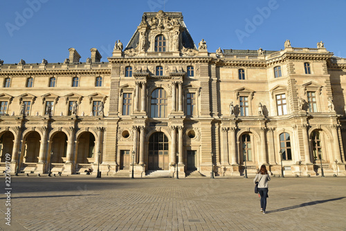 Photographie  Cour Napoléon au Louvre, France
