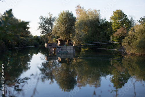 Kleines Haus am See im Wald - Buy this stock photo and ...