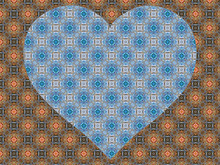 Lacy Decorated Background With Heart, Gorgeous Pattern