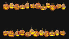 Carved Halloween Pumpking At H...