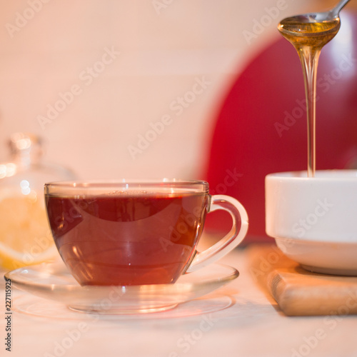 A cup of hot black tea