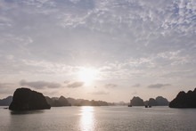 Tranquil Scene Of Halong Bay A...