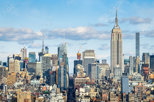 Plakat Manhattan Skyline mit Empire State Building, Nowy Jork, USA