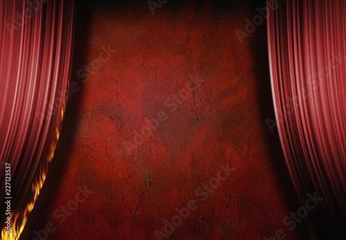 Burning Curtain Wallpaper Mural