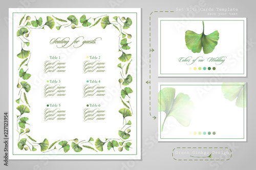 Set For Wedding Printing Seating For Guests Or Invitations