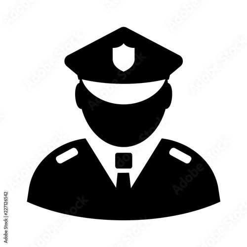 Fotografía Police officer vector icon