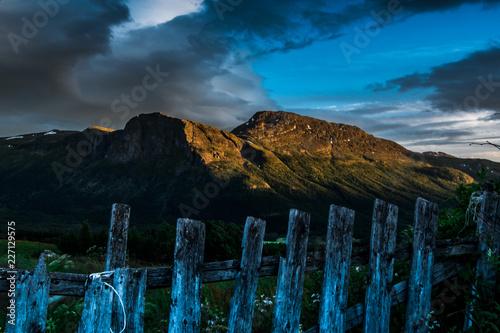 Foto op Aluminium Nachtblauw A beautiful rural landscape