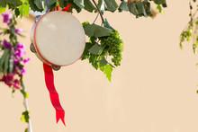 Italian Tambourine With Grapev...