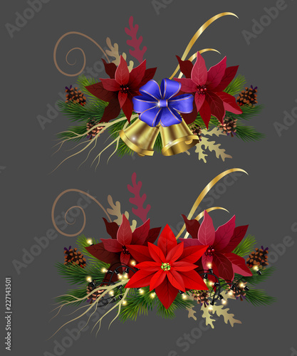 Poster Imagination Christmas elements for your designs